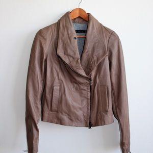 DOLAN From ANTHRPOLOGIE Moto Leather Tan Jacket